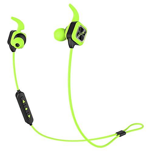 TenCloud KS (進級版) ブルートゥース イヤホン Bluetoothイヤホン 高音質イヤホン ワイヤレス スポーツ仕様 防汗 マイク付き ハンズフリー通話 iPad/iPhone/スマホなど対応 待受時間240時間 (グリーン)