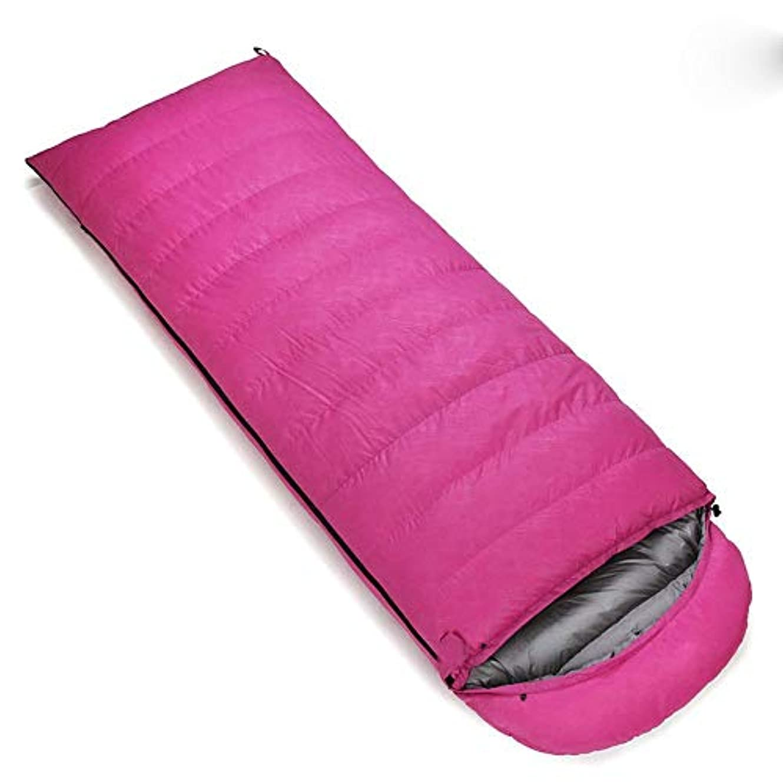 まばたき抵当充電アウトドア旅行寝袋ミイラ寝袋3-4シーズンキャンプ、ハイキング、野外活動快適な暖かい睡眠 (Color : Red, Size : 1.2kg)