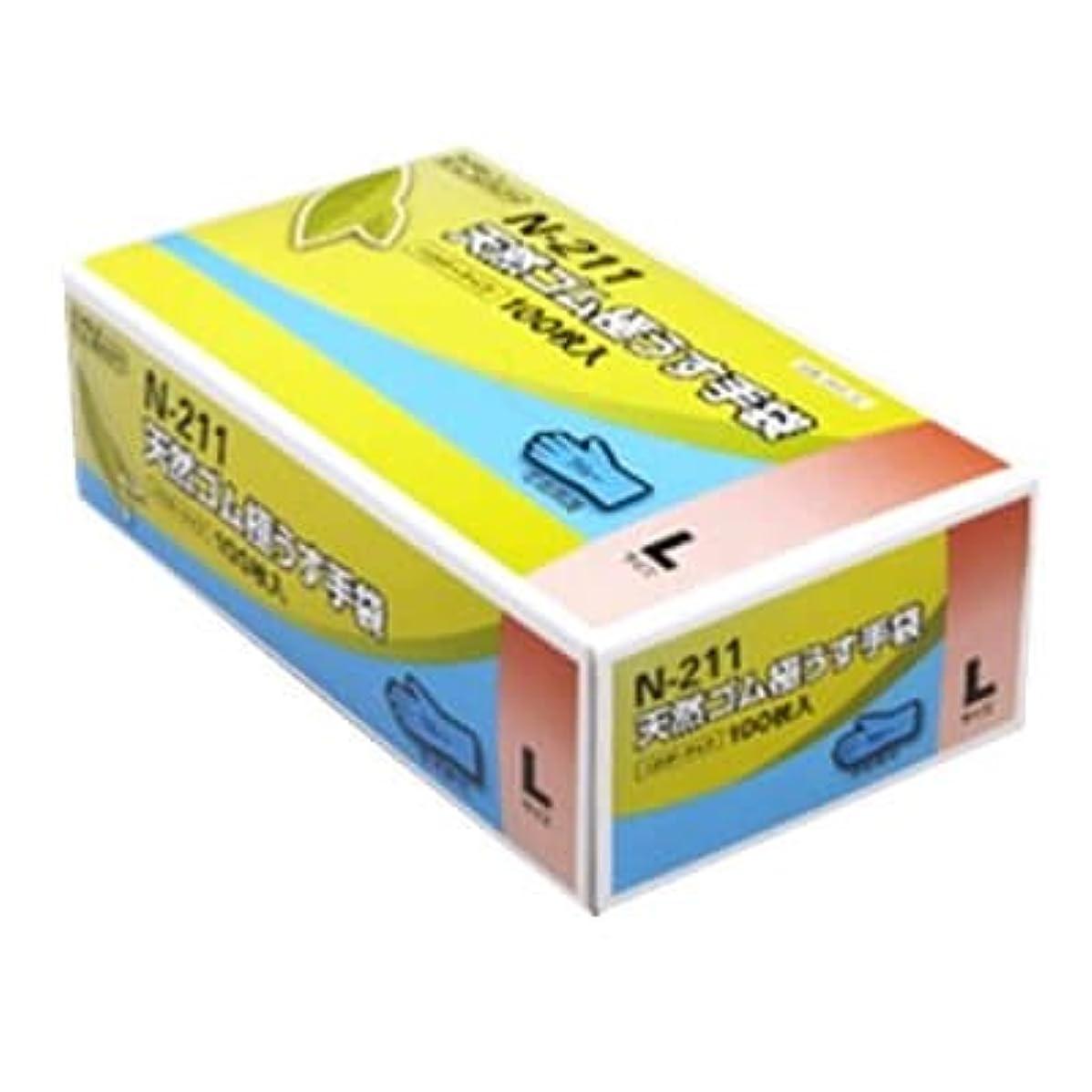 そっと涙優先【ケース販売】 ダンロップ 天然ゴム極うす手袋 N-211 L ブルー (100枚入×20箱)