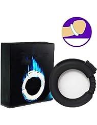 振動リング、シリコーン男性強化エクササイズバンドOリング柔軟なリング - 100%医療用グレードシリコーン - リアル感 (Color : Black)