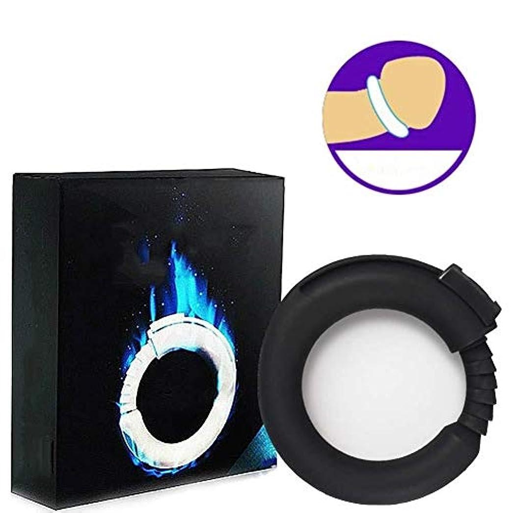 ユニークな追い出す陰気振動リング、シリコーン男性強化エクササイズバンドOリング柔軟なリング - 100%医療用グレードシリコーン - リアル感 (Color : Black)