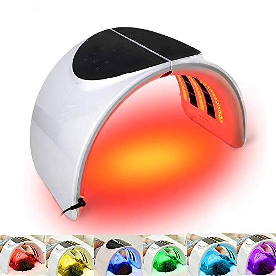 バスルーム安全性列車7色LEDマスク、フォトンマスクフェイシャルスキンケア老化防止顔の美白肌の若返り装置