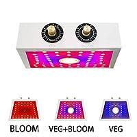 LEDフルスペクトル植物成長ランプ、屋内植物用1100W調光可能植物成長ランプ、COBチップ付き野菜および花温室ランプ