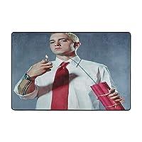 """フロアマット36 X 24 In、72 X 48 In ラグ カーペット Eminem ホーム、リビングルーム、オフィス、コーヒーテーブル、寝室、バルコニー36""""x24"""""""