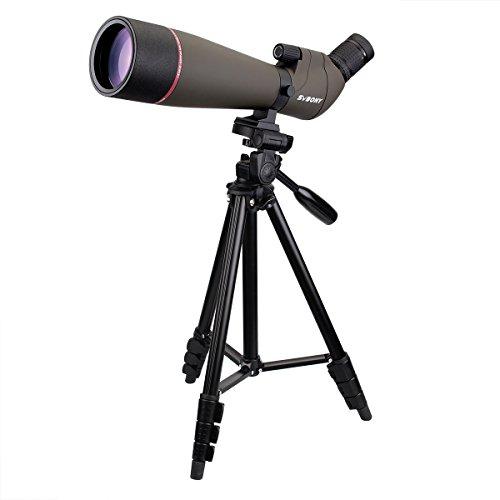 SVBONY SV13 フィールドスコープ ズーム単眼鏡 高倍率 完全防水 天体観測 野鳥観察 アーチェリー 射撃 三脚 日本語マニュアル付き (20-60x80mm)