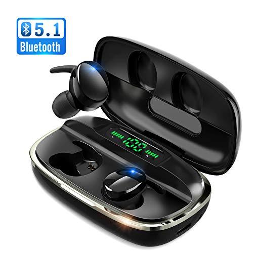 次世代 最新Bluetooth5.1技術 瞬時接続 Bluetooth イヤホン Hi-Fi高音質 蓋を開けたら接続 LEDデジタル残量表示 4000mAh充電ケース付 自動ペアリング 最大680時間待ち受け 完全ワイヤレス イヤホン 3Dステレオサウンド CVC8.0ノイズキャンセリング AAC対応 IPX7防水 両耳 左右分離型 ブルートゥース イヤホン 音量調整 マイク内蔵 ハンズフリー通話 技適認証済 iPhone/iPad/Android対応 クリスマス プレゼント ギフト (S8)