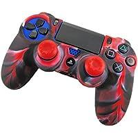 inverleeスキンfor ps4コントローラ、ソフト迷彩シリコンケースカバープロテクターfor Playstation ps4コントローラ マルチカラー IN
