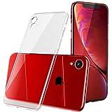 kutolo iPhone XR ケース iPhone XR カバー TPU シリコン ケース 耐衝撃カバー 超薄型Qi充電対応 擦り傷防止 軽量 ソフト クリア全透明 (iPhone XR ケース)