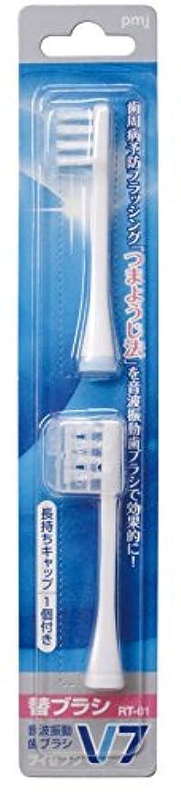 ではごきげんよう消防士回路つまようじ法 音波振動歯ブラシ V-7 専用替ブラシ