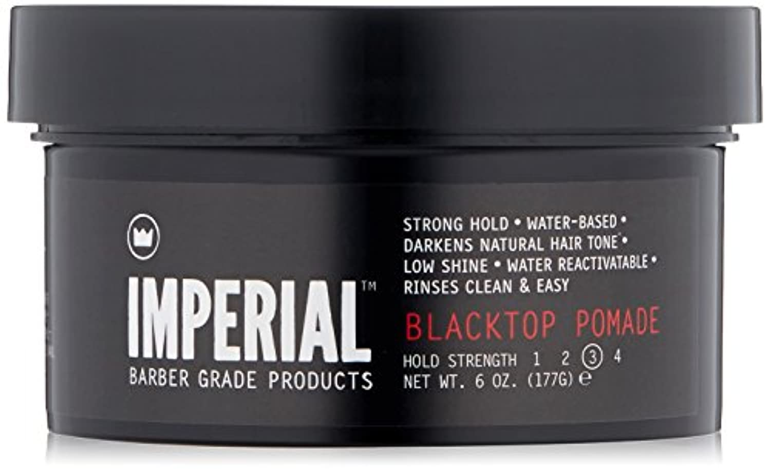イディオム海軍愚かなImperial Barber Products Black Top Pomade 6 oz by Imperial Barber [並行輸入品]