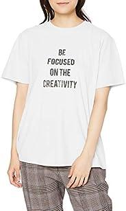 [ミラオーウェン] かすれ4段ロゴプリントTシャツ 09WCT204164 レディース