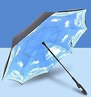 My Vision 【 新発想 】 全13種類 逆さになる傘 軽量 アザヤ傘 (Aタイプ) 2重構造 安全 長持ち おしゃれ デザイン MV-AZAYAKASA-A