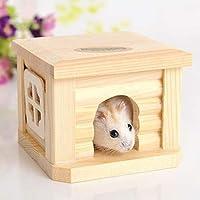ペット用品 ペットフラットルーフ木造住宅小屋ペットケージ用小動物ウサギハムスター ペット用