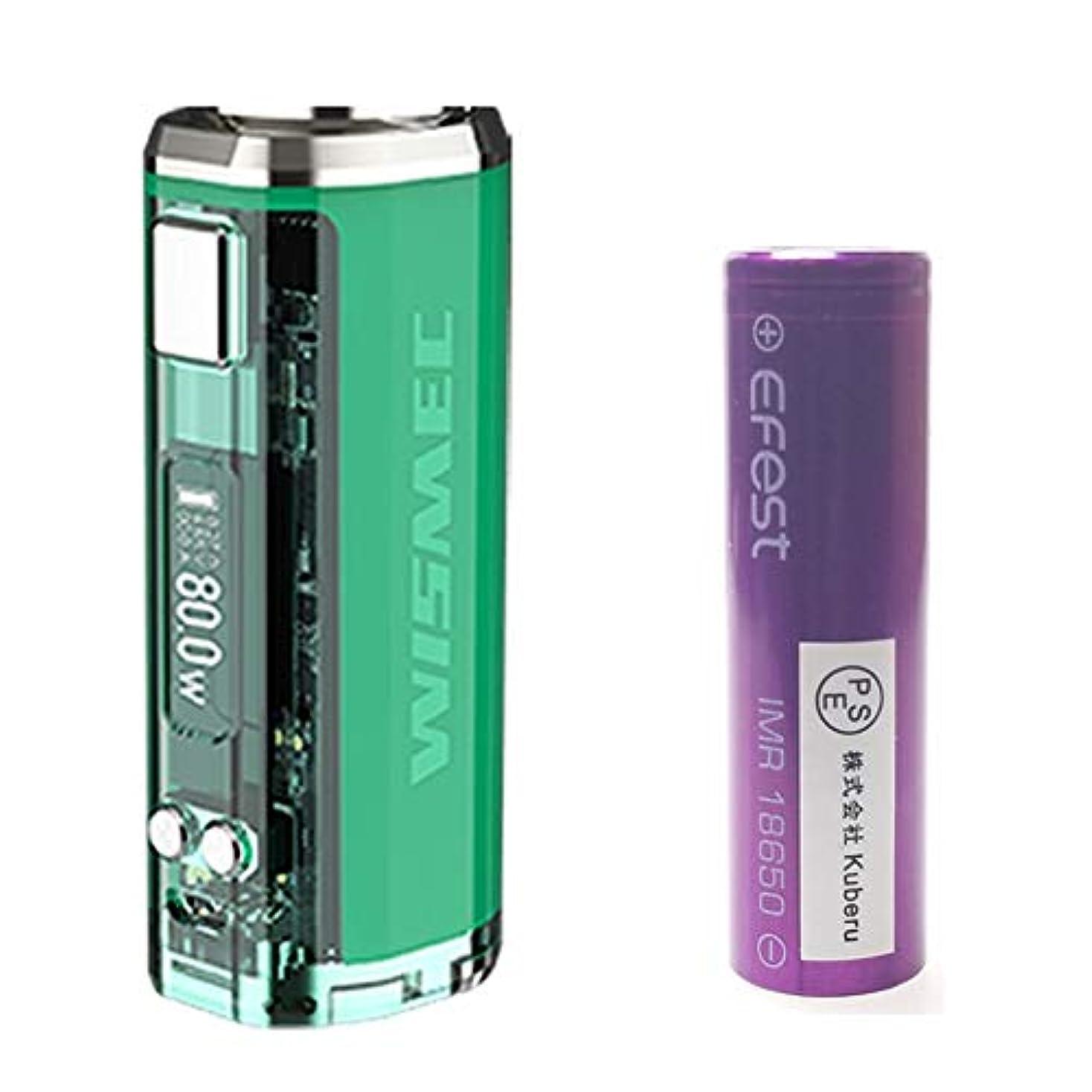 弱いスーパー反逆者【正規輸入品】WISMEC SINUOUS V80 80W TC MOD +EFEST 18650バッテリー PSE認証取得 セット (Dark Green)
