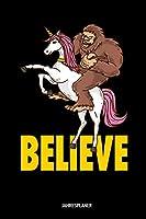 Believe Jahresplaner: Believe Yeti Einhorn Kalender 6x9 A5: Studienplaner   Terminkalender   Woechentliche To-Do-Liste & Ziele   Fuer Schueler Und Studenten