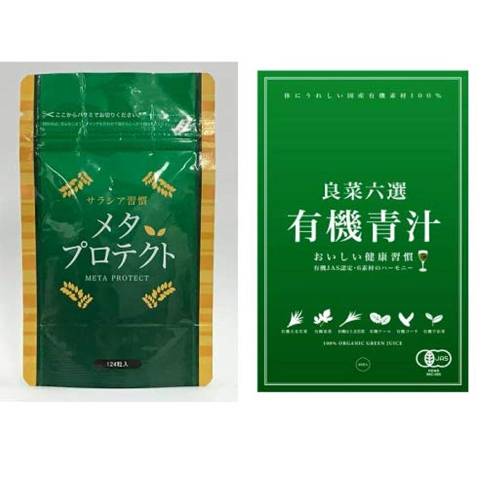 取り替えるペパーミント憧れダイエット 肥満予防サプリメント(メタ?プロテクト124粒/青汁32包)2点セット