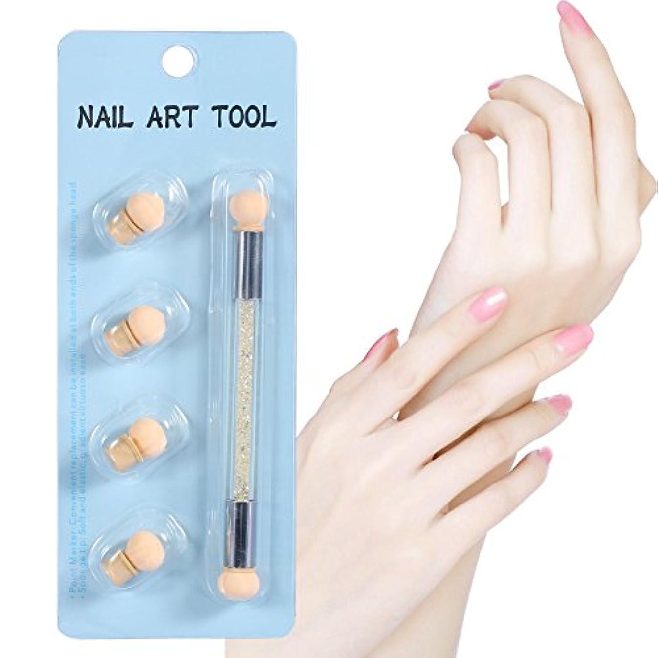 単語を通してわずかに両端UVジェルネイルアート絵画シェーディングペン