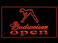 BudweiserセクシーダンサーOpen Drink LED Light Sign
