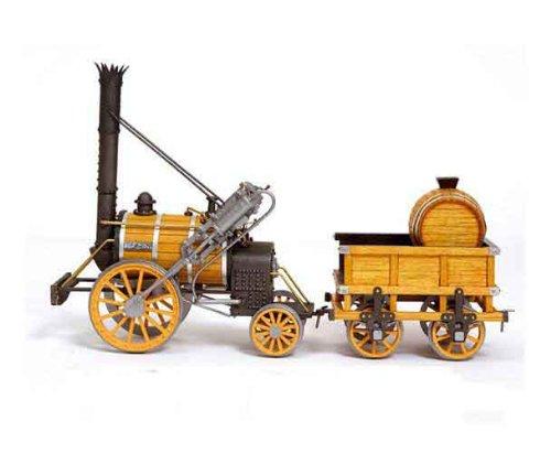 蒸気機関車 ロケット号(木製模型キット・ヨーク鉄道博物館レプリカ模型)和訳付き