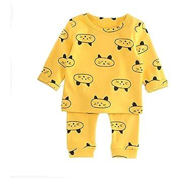 805e7aa0412e3 Dragon Honor ベビー服 パジャマ 上下2点セット 長袖 可愛い 動物柄 猫ちゃん 馬 赤ちゃん