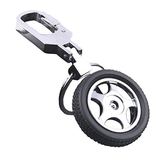 キーホルダー タイヤ型キーリング 鍵チェーン リング&フック...