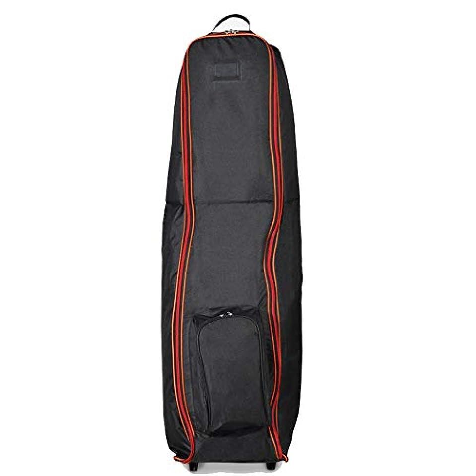 コンピューターうま邪悪なゴルフクラブのセットを輸送するためのゴルフバッグを運ぶためにゴルフクラブ旅行バッグケースゴルフクラブトラベルカバー (色 : 赤, サイズ : 128X46x37cm)