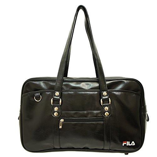 (フィラ) FILA スクールバッグ 合皮製 通学バッグ 学生鞄 中学生 高校生 男女兼用 レディース メンズ MRFLMB31 (黒 ブラック)