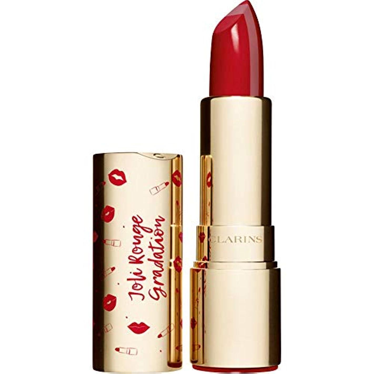 時間有利十[Clarins ] クラランスジョリルージュグラデーションツートンカラーの口紅3.5グラム802 - 赤のグラデーション - Clarins Joli Rouge Gradation Two-Toned Lipstick...