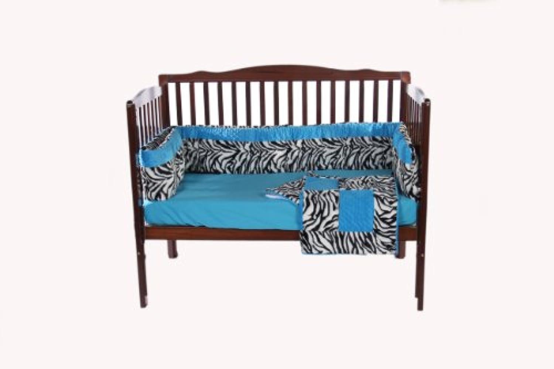 Baby Doll Bedding Crib Bedding Set with Bumper, Blue by BabyDoll Bedding