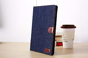 iPad mini2 アップル アイパッド ミニ2 ケース ジーンズ スタンド機能+オートスリープ機能付+カード入れ付(カード収納) ブラック 手帳タイプ  Jeans Case for iPad mini2 with card pocket + sleep function+stand-design (black)