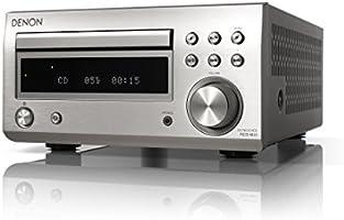デノン Denon RCD-M41 ワイドFM AM/FMラジオチューナー 高音質ディスクリートアンプ搭載 Bluetooth®対応 CDレシーバー プレミアム シルバー RCD-M41SP