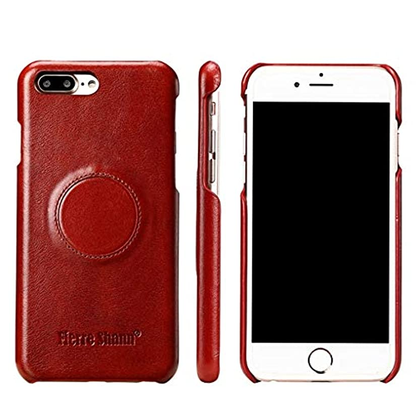 勇気のあるに渡ってつづりWAYNEYOROSH 電話の保護ケースまずレイヤー牛革カーホルダー携帯電話ケースホルスターアップルIPhone 8プラス (Color : ブラウン, Size : IPhone6S Plus)