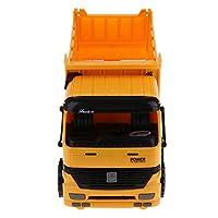 F Fityle トラックモデル ダンプトラック模型 建設車両モデル 子供 車おもちゃ 全2選択 - 黄色+黒