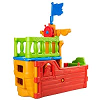 ECR製 海賊船のプレイデッキ(ジャングルジム・室内・屋外・大型遊具)