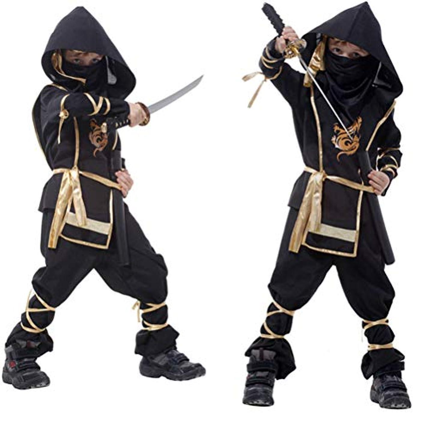 かわいらしいアリ線形ハロウィーン コスプレ 衣装 忍者 子供 キッズ 演出服