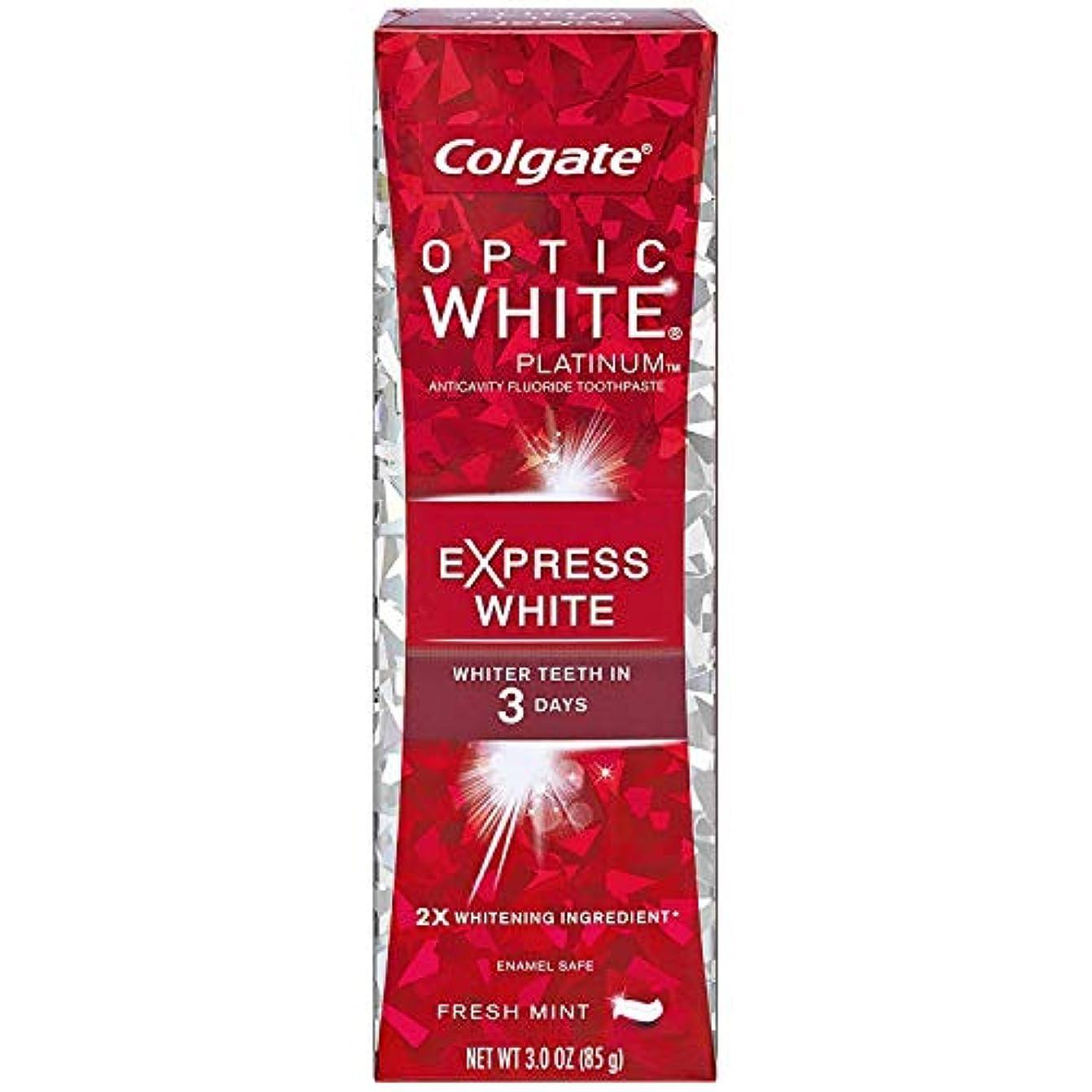 どきどきしつけ干渉コルゲート 歯みがき粉 オプティック ホワイト 3Days エクスプレス ホワイト (85gX2本)
