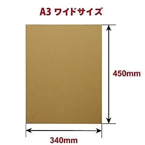 ボックスバンク 板ダンボール 工作 A3ワイド (450×340mm) 3mm厚 50枚セット FB40-0050-a