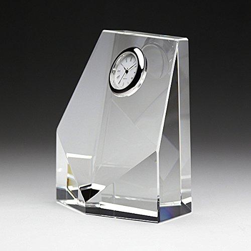 クリスタル盾時計付DT-7 フルカラー印刷・レーザー彫刻タイプ