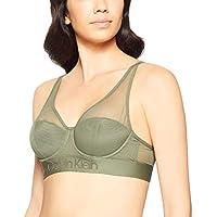 Calvin Klein Women's Tonal Logo Mesh Light Lined Bralette