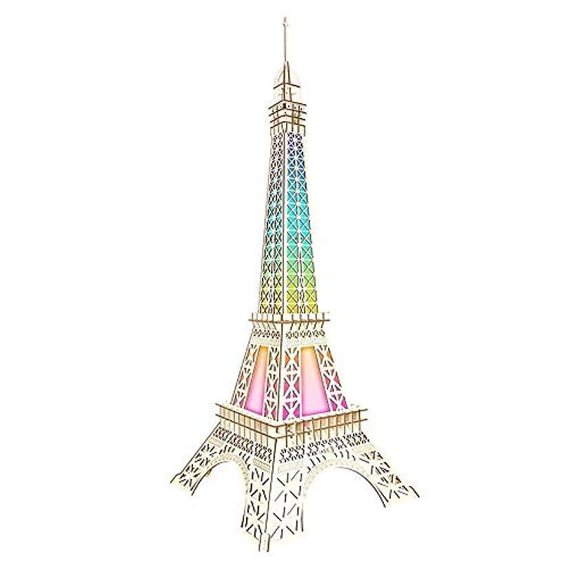 過剰地震寺院大人のギフトのための3d木Diyのパズルレーザーの切断モデルのおもちゃ 大人のためのモデルキットのコレクションのおもちゃを造る3Dパズル Diyのパズルレーザーの切断モデルのおもちゃ (色 : Picture Color, サイズ : 41x41x106cm)