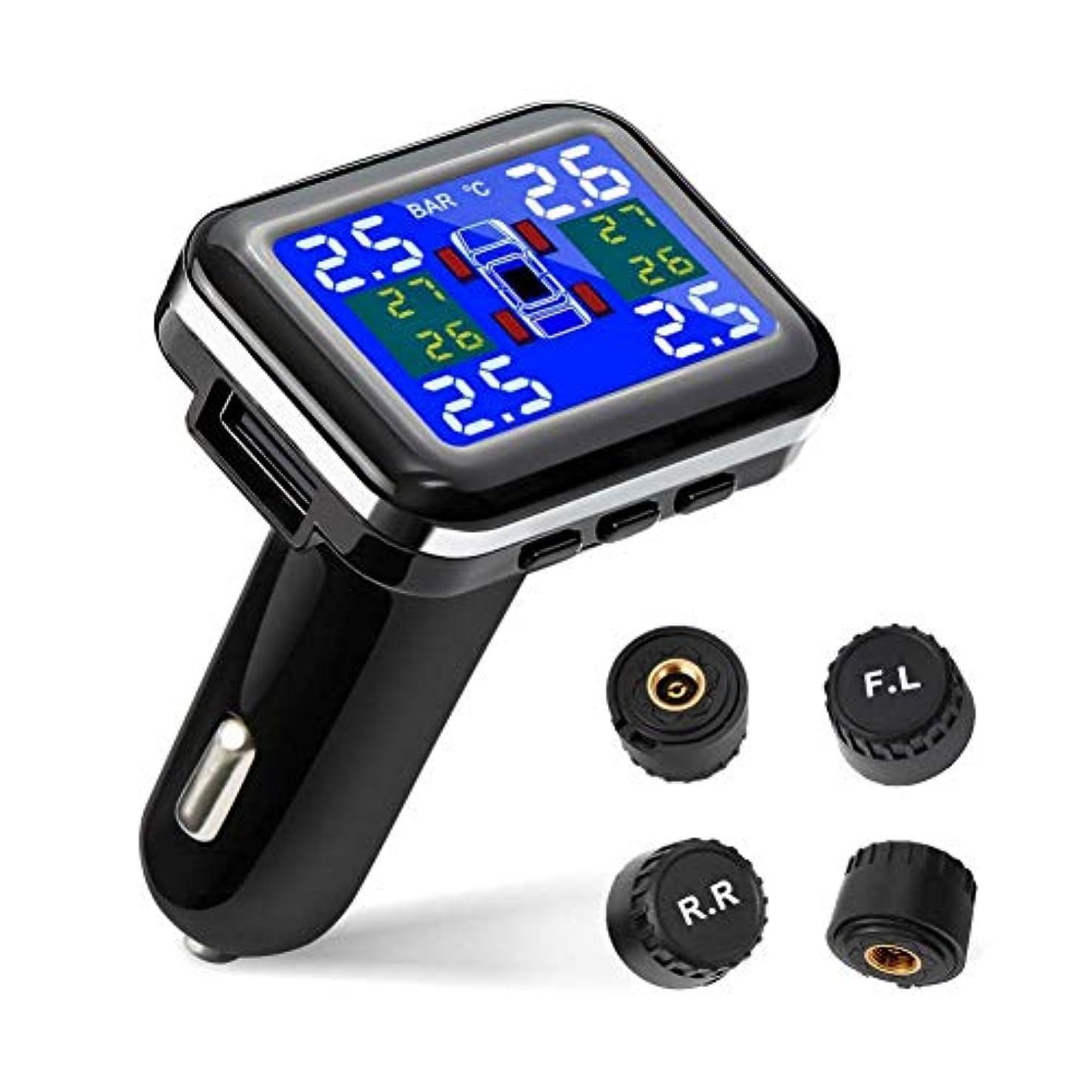 噛む処理海港Juhon USBソケットが付いている専門の自動無線TPMS普遍的なタイヤの圧力制御システム