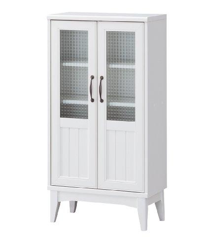 RoomClip商品情報 - 白井産業 【SHIRAI】 レトロモダンの白いキャビネット 型ガラスの扉 レトロア RTA-1155G