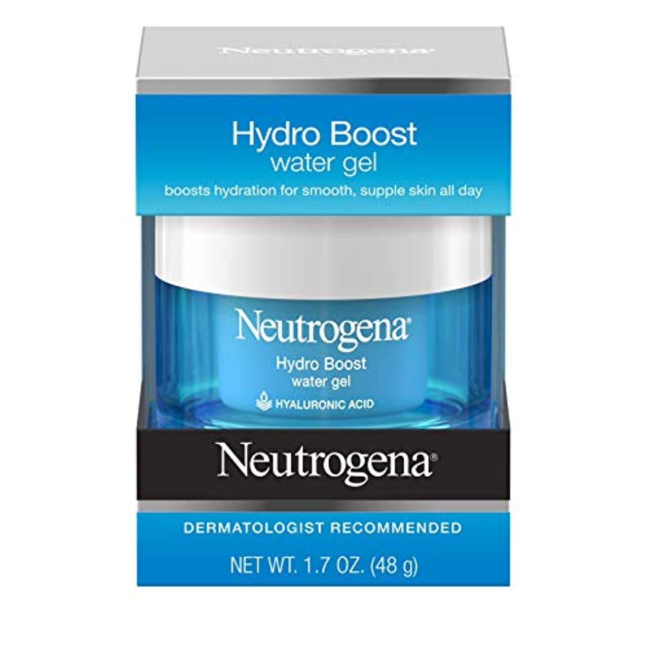 姿勢彼女は朝の体操をするNeutrogena Hydro Boost Water Gel、1.7 FL。Oz