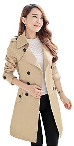 (ミズミス) Ms.Miss レディース スプリング コート 春 トレンチコート アウター ロング丈 大きいサイズ 選べるカラー (M, ベージュ)