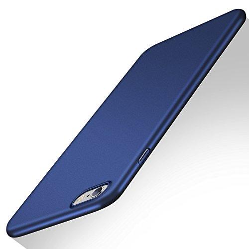 TORRAS iPhone6/6sケースガラスフィルム付き薄型ハードケース アイホン6用 カバー (ダークブルー)