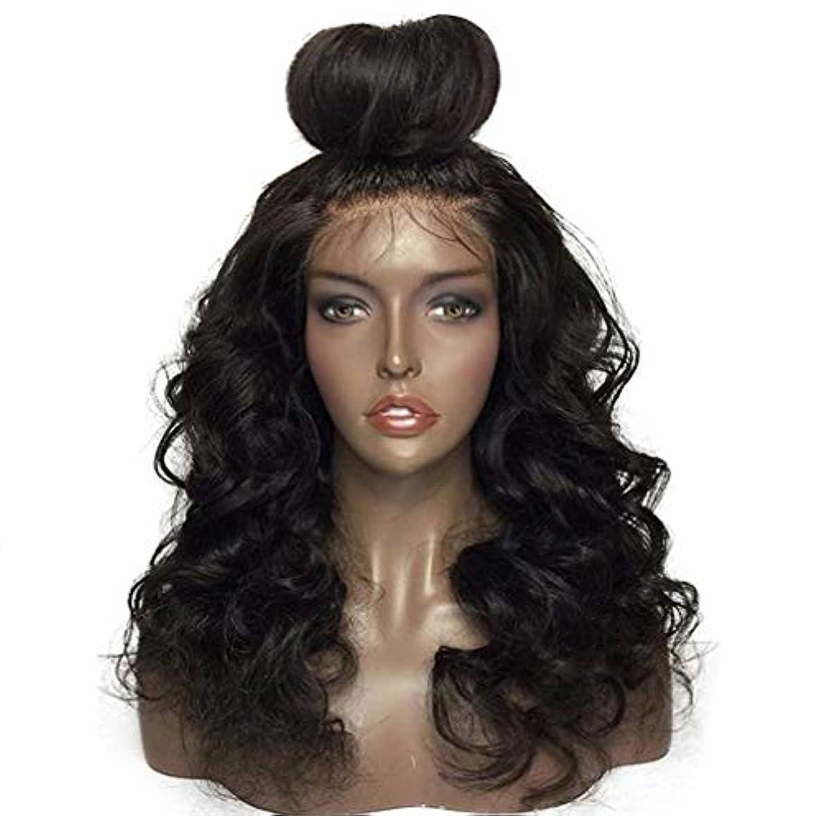三十添付すみません女性フロントレースかつら150%密度合成ブラジルかつら耐熱耐熱巻き毛のかつら