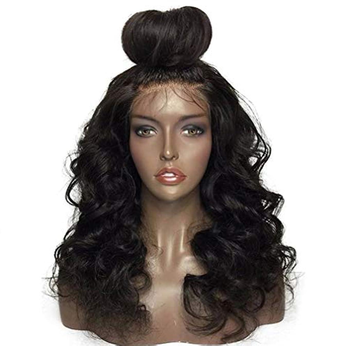 詳細な嫌なイベント女性フロントレースかつら150%密度合成ブラジルかつら耐熱耐熱巻き毛のかつら