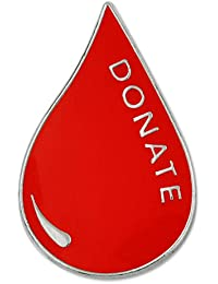 Pinmart 's Red Blood Donor Awarenessエナメルラペルピン 10
