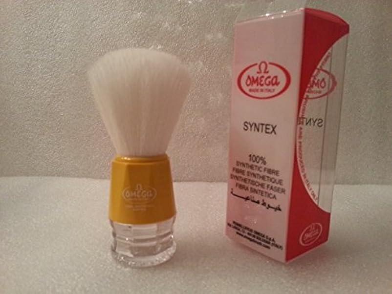 予見する参加する参照Omega Shaving Brush # 90018 Syntex 100% Synthetic Yellow [並行輸入品]