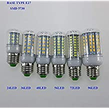 Warm White, E14 56LED 110V : SMD 5730 Lampada E14 110V LED Lamp E27 LED Spotlight Bombillas LED Bulb Light Candle Luz Lamparas Ampoule LED Chandeliers